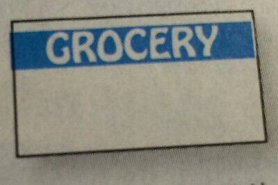 Blue Grocery Labels For Monarch 1110 1 Case 255000 Made In Usa With Inkers