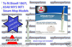 Bissell Steam Mop Floor Pads Suit 1867L 3255 (3250) Pk2 BS53M4- NEW - GENUINE