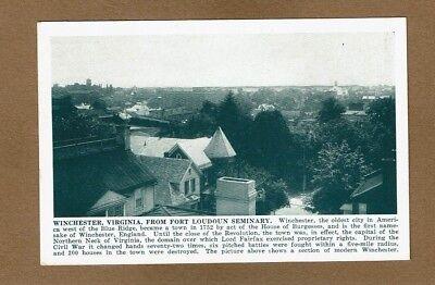 Winchester,VA Virginia, bird's eye view from Fort Loudoun Seminary