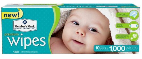 Купить Member's Mark MM0601/1 - Members Mark Premium Diaper Baby Adult Wet Wipes 1000 ct Case (10 packs x 100)