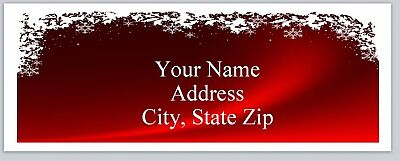 30 Personalized Christmas Return Address Labels Buy 3 Get 1 Free Bo 128