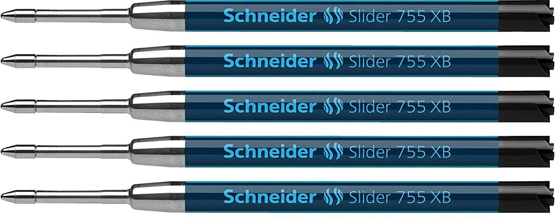 5 – SCHNEIDER Slider 755 XB Parker Style Ballpoint Pen Refills, Bulk Packed, New Collectibles