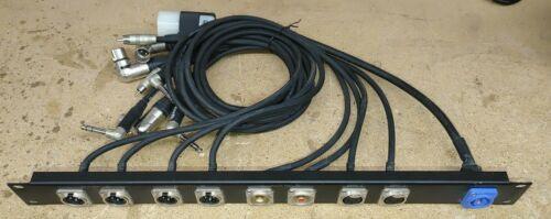 1U Custom Audio I/O Panel with Power, Microphone, Line In, RCA, PowerCon, XLR
