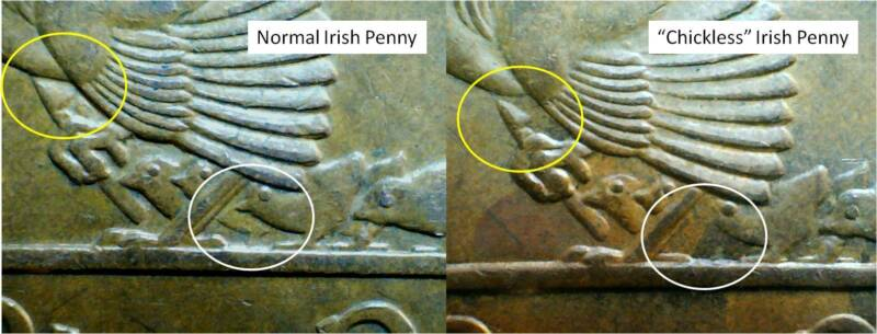 """Chickless"" Irish Penny"