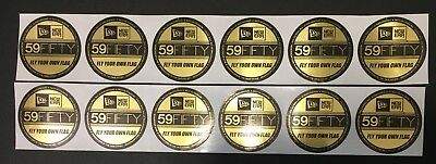 1 DOZEN NEW ERA FITTED 59FIFTY GOLD FOIL STICKER FOR CAP x HAT BRAND NEW (5950 59fifty Fitted Hat Cap)