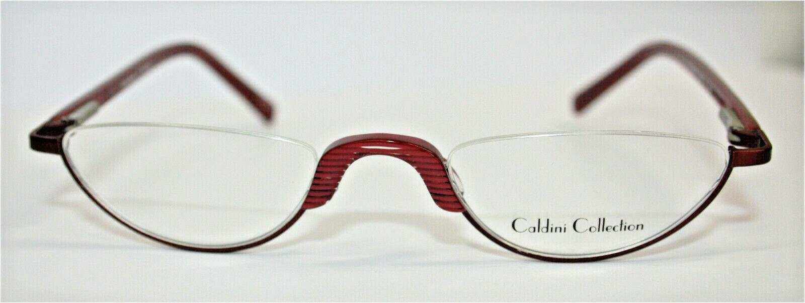 Brillenfassung Lesebrille Halbbrille rot matt Caldini MC 029 C2