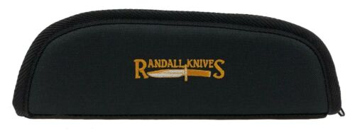 "RANDALL KNIFE CASE with SHEATH STRAPS & EMBROIDERED LOGO - 10"" BLACK - USA MADE!"