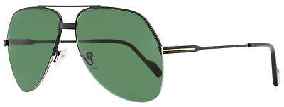 Tom Ford Aviator Sunglasses TF644 Wilder-02 01N Shiny Black 62mm (Tom Ford Aviator Sunglasses Men)