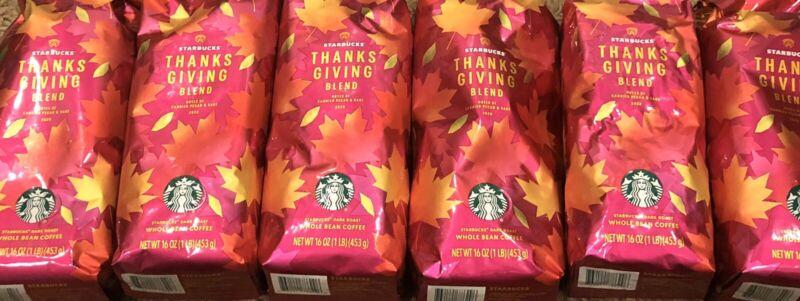 Ultimate Starbucks Coffee Bundle (6) Bags - Thanksgiving Blend Whole Bean!