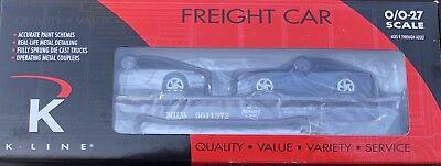 Used, K-LINE K661-1372 MILWAUKEE ROAD CLASSIC FLATCAR W/2 PORSCHE 996 AUTO LOAD for sale  New York