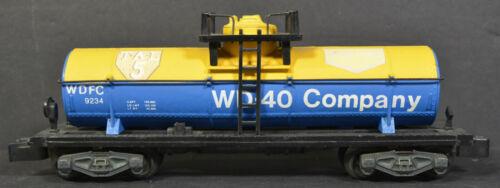 American Flyer Yellow Blue WDFC 9234 WD-40 Tank Car