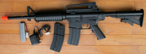 M4A1 Carbine Style Auto Electric Airsoft Gun with Two Magazine