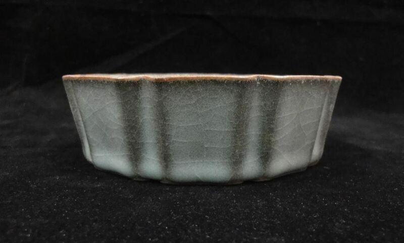 "Rare Fine Old Chinese ""Guan"" Kiln Porcelain Brush Washer Deep Plate"