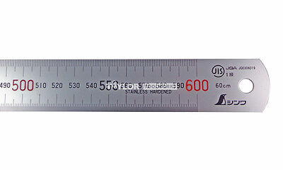 Shinwa 600 Mm Rigid Zero Glare Metric Machinist Rulerule Scale .5mm Mm