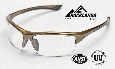 Elvex Sonoma™ Safety Glasses Clear Lens Brown Frame SG350C Z87.1