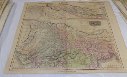 1816 Antique COLOR Map///NORTHERN PASSAGE BETWEEN ASIA AND AMERICA///Large21x28""