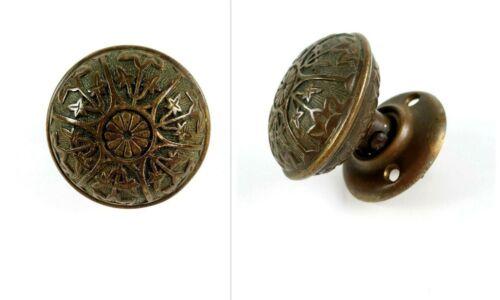 Antique Victorian Ornate Round Brass Door Knob Handle Hardware