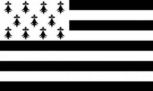 BRITTANY LARGE FLAG 8 X 5 FEET flags Bretons FRANCE French Celtic nations