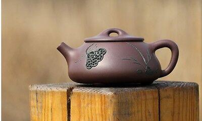 210cc Chinese Yixing Zisha old purple clay teapot Jingzhou Shi Piao Hu Tea Pot