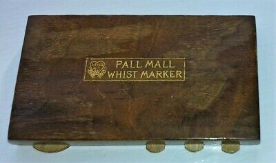 Whist Marker Dating from the 1920's Named Pall Mall in Dark Wood