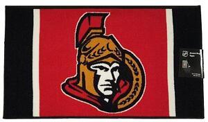 New: Ottawa Senators Accent Non Slip Area Rug 34inch x 19.7inch