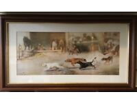 William Henry Trood, 'Hot Pursuit', rare print, framed and mounted