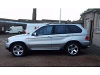 BMW X5 Silver. Freeview TVs DVD Headrests