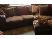 ** L Shaped (left side is shorter) Corner Sofa **