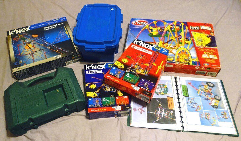 K'NEX - Big Bundle of 6 Boxes! 4 x Knex Rides + 2 Boxes Mixed Knex