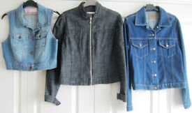 Coats and jackets - sizes 8, 10, 12, 14, 16, 18 and 20. £2 - £8.