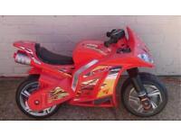 Motorbike and crash helmet (push along)
