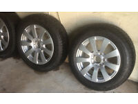 MERCEDES E CLASS 212 - SET OF 4 ALLOY WHEELS AND WINTER TYRES