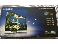 E-Motion 32/147 32 Inch HD Ready 720p LED TV with Freeview BRAND NEW BOXED