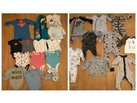 27 X BOYS 3-6 MONTHS JOBLOT SUPERHEROS , DINOSAURS , ANIMALS ALL IN GOOD CONDITION AS PICTURED
