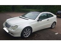 Mercedes C-Class C230 Coupe, Satin White (Professionally wrapped)
