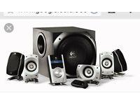 for sale logitech z 5500 5.1 speaker system dts thx dolby digital