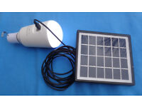 Portable solar power bank LED lighting with smart phone back up