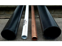 SPARE PIPES 32mm Basin & 40mm Bath & 15mm JG SpeedFit Plastic & Talon Copper FOR PLUMBERS OR DIY