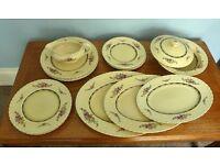 Vintage / Retro Staffordshire Myott China Dinner Service - four place settings