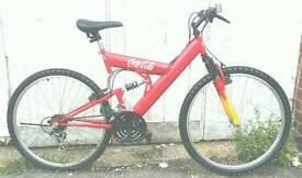 Coca Cola dual suspension bike