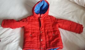 Boys Red Winter Coat Age 4-5 Years