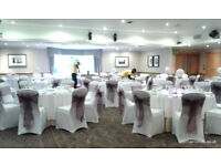 Wedding Chair Covers, Sashes, Centrepieces, Linen, Backdrops in fact lots of decor for hire