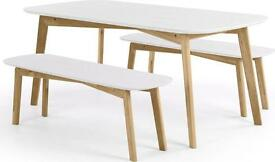 Dante Dining Table - oak and white - brand new from Made .com