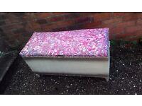 1930s/40s Lloyd Loom Sirrom Ottaman Blanket Box
