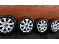 """VW GOLF 16"""" Alloy Wheels & Tyres 205/55/16"""