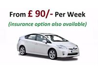 From £90.00 per week - Toyota Prius Hybrid