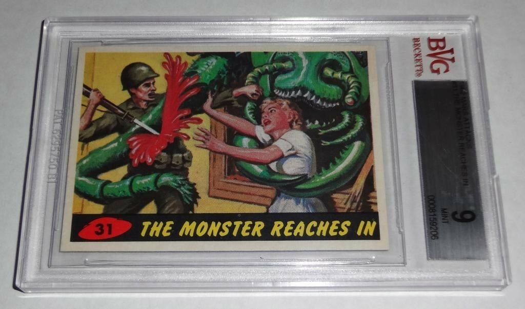 1962 Mars Attacks The Monsters Reach In # 31 Mint BGS BVG 9 Like PSA Rare Card