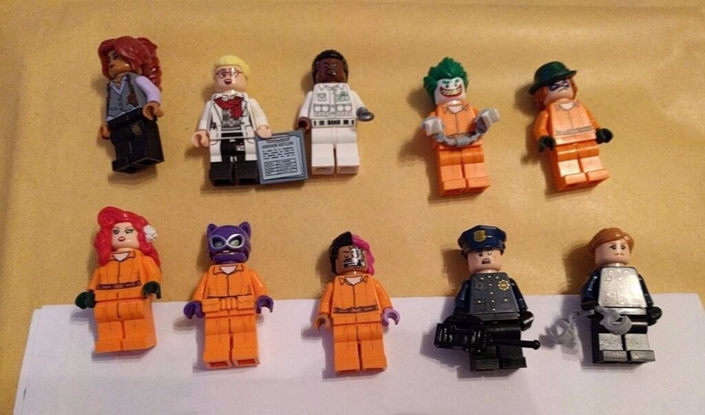 Lego Batman Movie Arkham Asylum 70912 Minifigures In