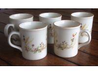 Vintage Marks and Spencer 'Harvest' mugs x5; all vgc