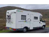 Chausson Welcome 55 Motorhome, 3 Berth, Fixed Rear Bed